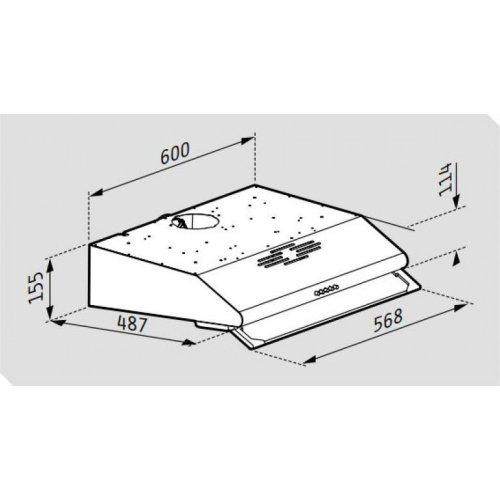 PYRAMIS Essential 065029502 Απορροφητήρας Απλός με 2 Μοτέρ Με Μεταλλικά Φίλτρα Inox 0021931
