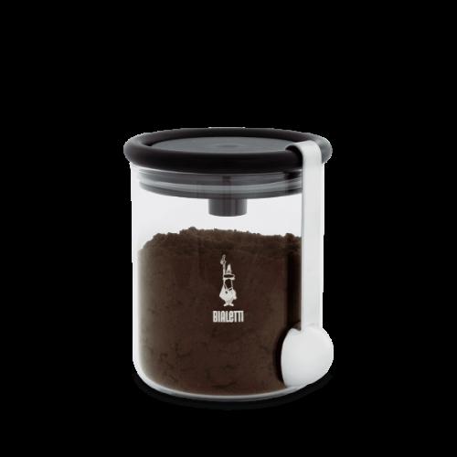 BIALETTI Γυάλινο Δοχείο Αποθήκευσης καφέ - με βάση για τοποθέτηση δοχείου καφέ bialetti και κουτάλι (DCDESIGN07) 0021962