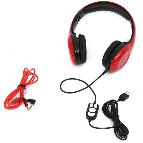 PLATINET PL42687 Freestyle USB Headset With Mic Red