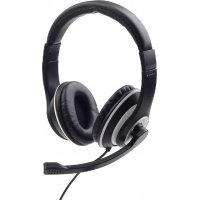 GEMBIRD MHS-03-BKWT JACK STEREO HEADSET BLACK WITH WHITE RING