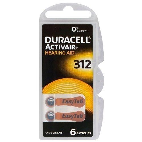 DURACELL ACTIVAIR PR41 - 312 - ΜΠΑΤΑΡΙΕΣ ΑΚΟΥΣΤΙΚΟΥ ΒΑΡΥΚΟΙΑΣ -ΠΑΚΕΤΟ 6 ΤΕΜ (1,45V ZINC AIR)