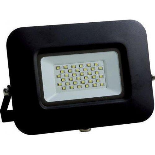 EUROLAMP 147-69325 Προβολέας LED SMD ΒΑΣΗ 360° PLUS 30W Μαύρος IP65 6500K PLUS