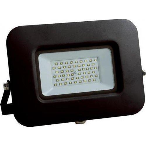 EUROLAMP 147-69331 Προβολέας LED SMD ΒΑΣΗ 360° PLUS 50W Μαύρος IP65 6500K PLUS