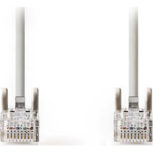 NEDIS CCGT85000GY100 Καλώδιο Δικτύου CAT5e, UTP, 10m σε Γκρι Χρώμα 0022341