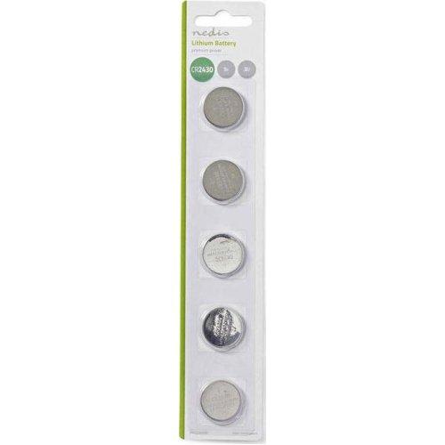 NEDIS BALCR24305BL Μπαταρία λιθίου (κουμπί) CR2430 3V σε blister 5 μπαταριών