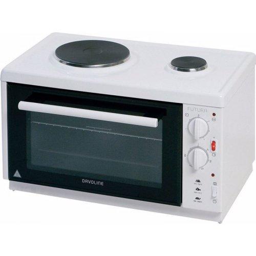 DAVOLINE EC 350 CHEF Ηλεκτρικό Φουρνάκι με 2 Εστίες 28lt - 3100W Λευκό