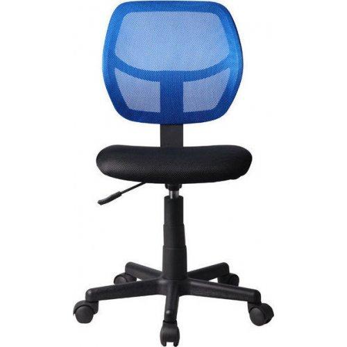 FYLLIANA 093-27-101 Καρέκλα Γραφείου Χωρίς Μπράτσα 5156Ρ Μαύρη/Μπλέ 41χ52χ80/92