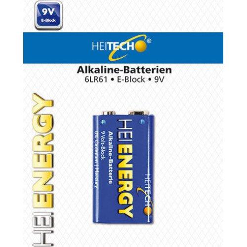 HEITECH HEI002079 Alkaline Battery 1/Pack 9V E-Block