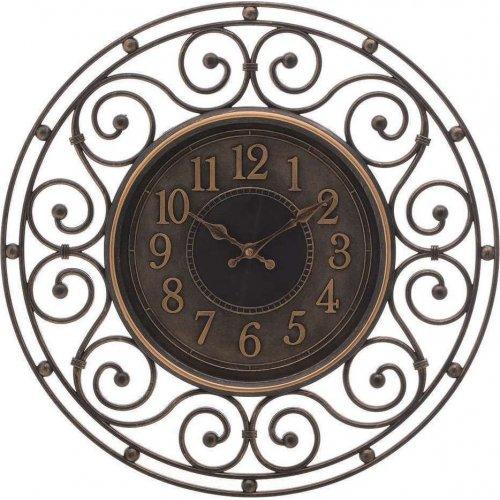 INART 3-20-828-0116 Ρολόι Τοίχου Pl Αντικέ Χρυσό/Μαύρο Δ46εκ. 0023315