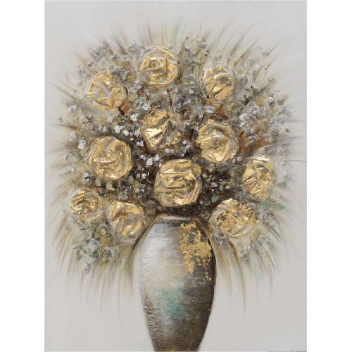 INART 3-90-519-0176 Πίνακας Καμβάς Βάζο Λουλουδιών 60χ80 0023348