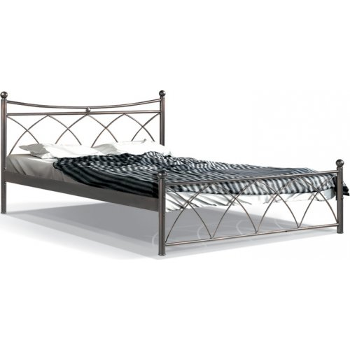 FYLLIANA 827-91-026 Κρεβάτι Σιδερένιο Καφέ Hermes 120x200 0023360