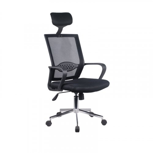 FYLLIANA 093-92-122 Καρέκλα Γραφείου 5628 Μαύρο Καθίσμα-Μαύρη Πλάτη 58χ61χ116/126
