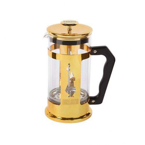 BIALETTI PREZIOSA Καφετιέρα Γαλλικού Χειροκίνητη (coffee press) 350ml (3 Κούπες) Gold - (0006840) 0023678