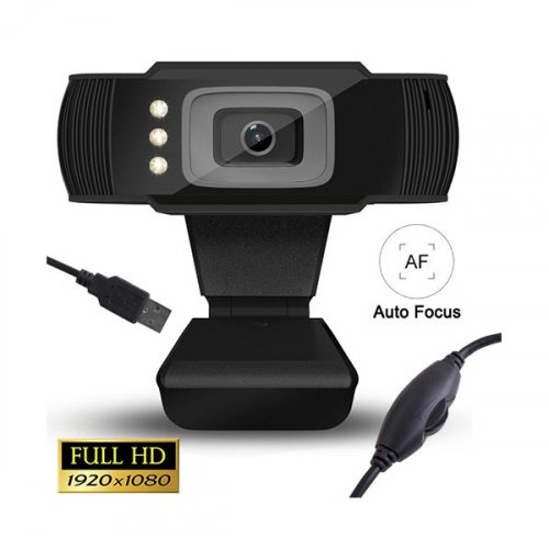 LAMTECH LAM021509 Full HD USB Web Camera With LED 1080P 0023695