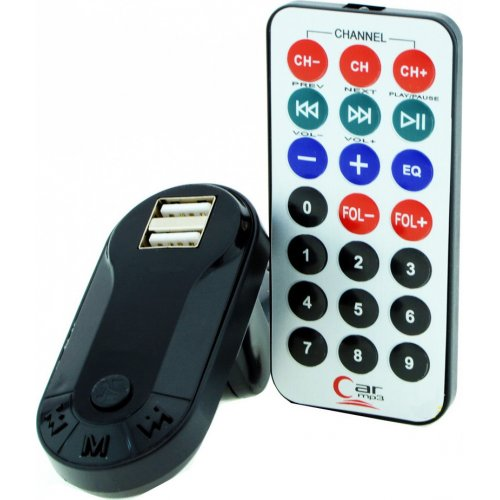 Car FM Transmitter T26 με LCD Οθόνη, USB, SD, Μαύρο 0023707