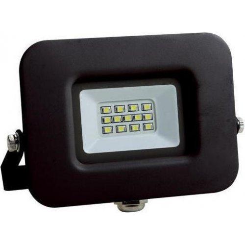 EUROLAMP 147-69313 Προβολέας LED SMD Βάση 360° Plus 10W Μαύρος IP65 6500K PLUS