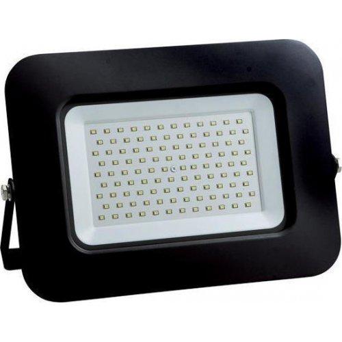 EUROLAMP 147-69350 Προβολέας LED SMD Βάση 360° Plus 100W Μαύρος IP65 6500K Plus