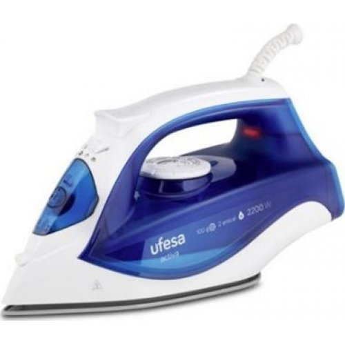 UFESA PV1500C Σιδερό Ατμού 2200W - 100 gr ατμός - κεραμική πλάκα - Μπλε