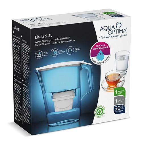 Aqua Optima Liscia FJ0638 2.5Ltr Κανάτα Φιλτραρίσματος + 1 φίλτρο Evolve+ 30 Ημερών