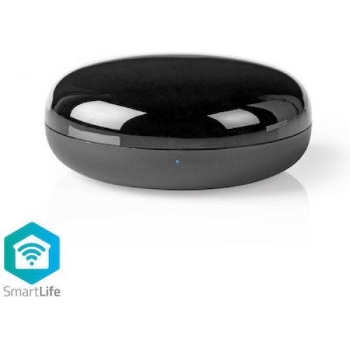 NEDIS WIFIRC10BK Smart Wi-Fi Τηλεχειριστήριο με Υπέρυθρες14 dBm Μαύρο 0024043