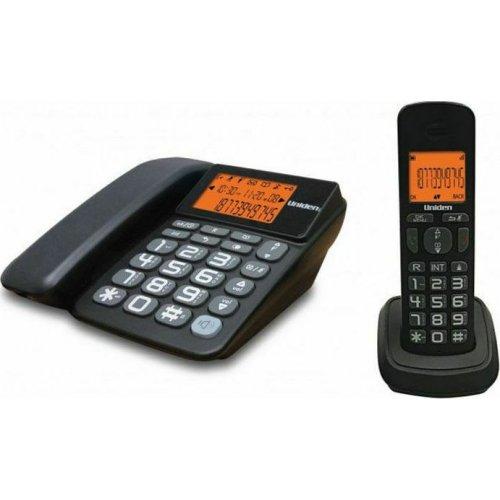 UNIDEN AT-4503 Ασύρματο & Ενσύρματο Τηλέφωνο Combo Μαύρο 0024264