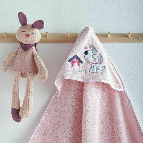 SB HOME  Κάπα Με Κουκούλα Bebe Κέντημα Panda Pink 0024414