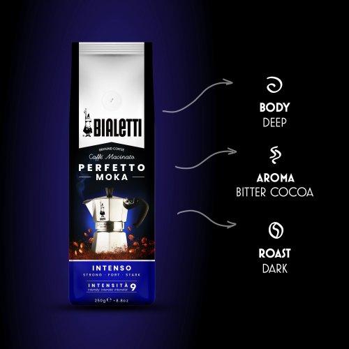 BIALETTI 096080317 PERFETTO MOKA INTENSO Καφές Espresso Dark 250gr - Made in Italy 0024608