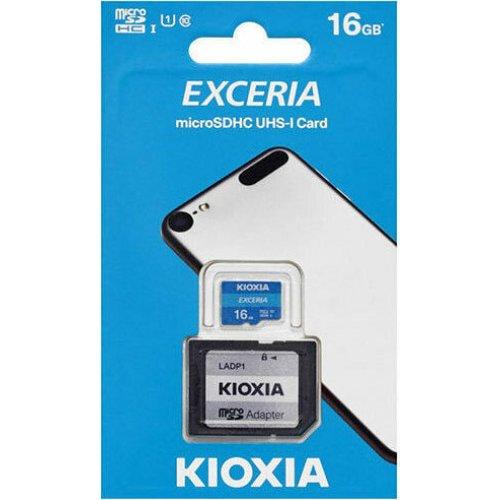 KIOXIA LMEX1L016GG2 Exceria memory card 16 GB MicroSDHC Class 10 UHS-I