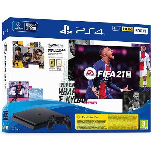 SONY PlayStation 4 Slim 500GB & FIFA 21 + FUT 21 Promo Code με 1 Dual Shock 4 Wireless Controller (CUH-2216A) 0025070