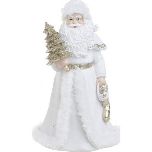 INART 2-70-850-0062 Άγιος Βασίλης Λευκό/ Χρυσό 14x12x23cm 0025391