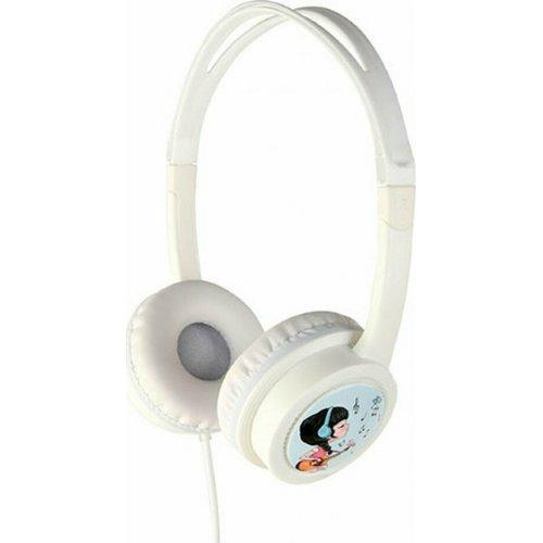 GEMBIRD MHP-JR-W Παιδικά Ακουστικά Volume Limiter  Λευκά 0025525