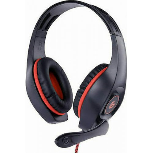 GEMBIRD GHS-05-R Aσύρματα Gaming Ακουστικά με Volume Control για PC/PS4 με μικρόφωνο Red-Black 0025610