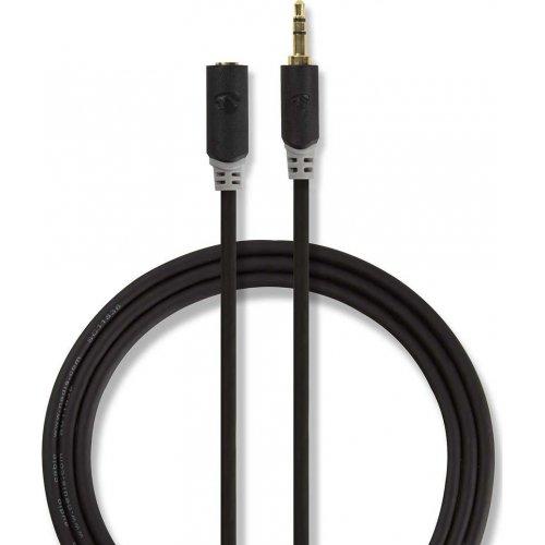NEDIS CABW22050AT100 Καλώδιο Προέκτασης ήχου 3.5mm Stereo Αρσ. - 3.5mm Stereo Θηλ. Σε Συσκευασία Blister 1m 0025638