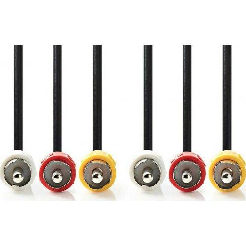 NEDIS CVGT24300BK15 Composite Video Cable 3x RCA Male 3x RCA Male 1.5 m Black (Καλώδιο A/V: 3x RCA αρσ) 0025738