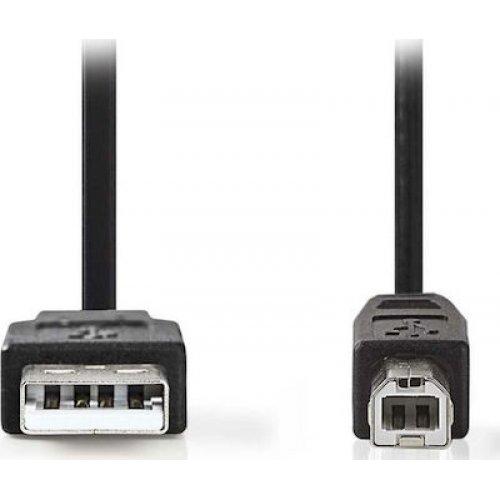 NEDIS CCGT60100BK20 Καλώδιο USB 2.0 Cable A Male-USB-B Male 2.0m Μαύρο 0025908
