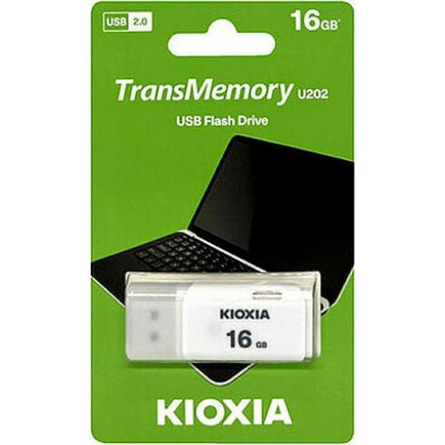 KIOXIA LU202W016GG4 USB 2.0 Flash Drive 16GB U202 Λευκό 0025944