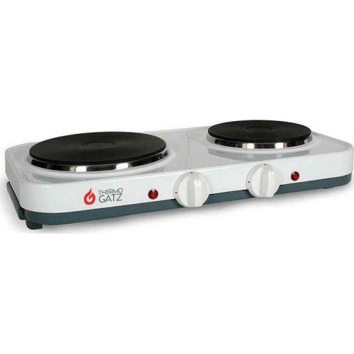THERMOGATZ GS 2500 Ηλεκτρική Εστία Επιτραπέζια με 2 Μάτια Λευκό 0025954