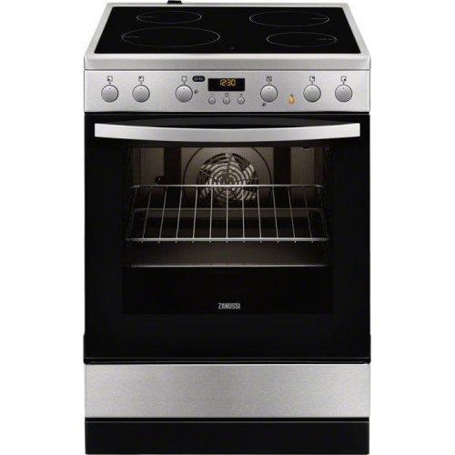 ZANUSSI ZCV65320XA Κουζίνα Ηλεκτρική με Κεραμικές Εστίες 72lt Inox ( Υ χ Χ χ Β): 850 x 600 x 596 cm 0025984