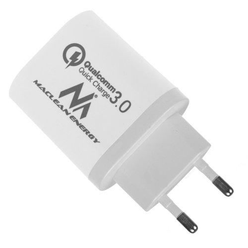 MACLEAN ENERGY MCE479 W Φορτιστής Qualcomm Quick Charge 3.0 5V / 3 A, 9V / 2 A, 12V / 1.5 A AC 100-240V Λευκό 0026067