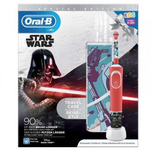 ORAL-B STAR WARS D100.413.2KX Επαναφορτιζόμενη Ηλεκτρική Οδοντόβουρτσα Kids 3+ Ετών + Θήκη Ταξιδιού 1τμχ 0026127
