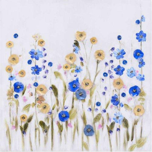 INART 3-90-859-0132  Πίνακας καμβάς 80χ80 Λουλούδια 0026164