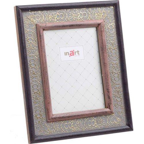 INART 3-30-831-0033  Κορνίζα Ξύλινη Καφέ Ρόζ 10x15 0026370