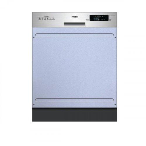 ROBIN SB-455 Πλυντήριο Πιάτων Εντοιχισμένο με Μάσκα Ιnox A++ 49 dB(A) 45cm 0026388