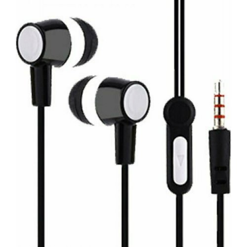 LAMTECH LAM021356 Handsfree 3.5mm Jack Earphones With Microphone Black 0026659