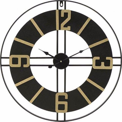 INART 3-20-463-0006  Ρολόι Τοίχου Μετάλ. Μαύρο/Χρυσό 0026753