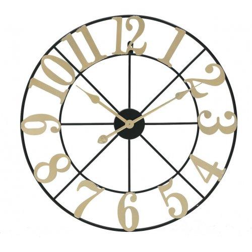 INART 3-20-463-0028 Ρολόι Τοίχου Μετάλ. Μαύρο Χρυσό 0026754