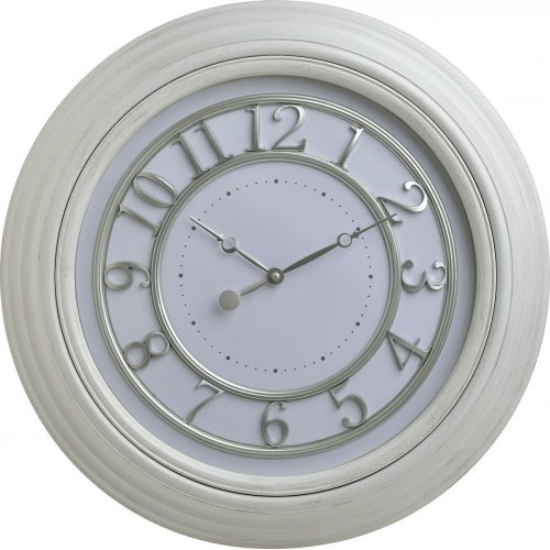 INART 3-20-828-0124 Ρολόι Τοίχου Pl Λευκό Δ50χ5 0026755