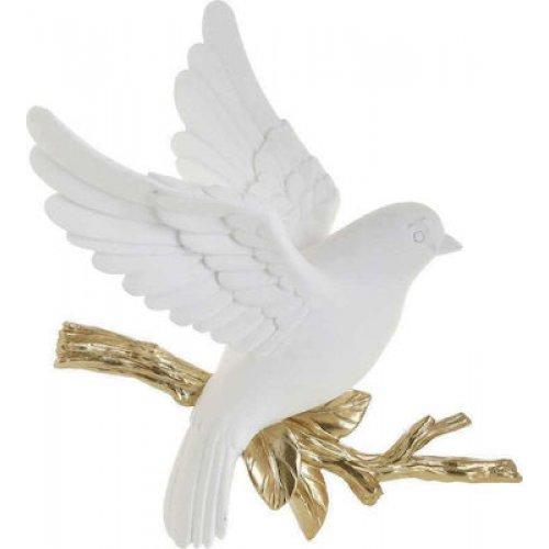 INART 3-70-117-0140  Διακοσμητικό Τοίχου White-Ivory, Golden 29x10x25 0026763