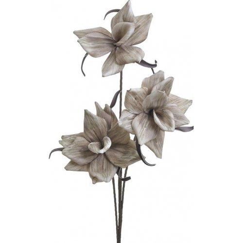 INART 3-85-246-0205 Κλαδί - Λουλούδι Καφέ/ Χρυσό Υ120εκ. 0026801