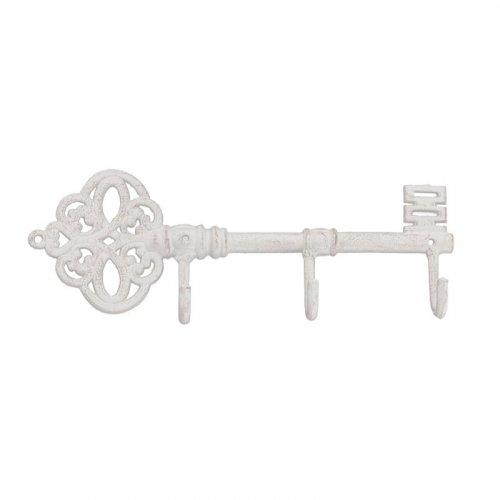 INART 3-70-907-0129 Κρεμάστρα/Κλειδί Μεταλλική Αντικέ Εκρού 0026807